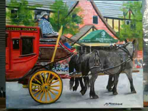 """Old West Days Parade""  11x14 Gallery Wrap  $650 - Copyright by Matt and Judy Montagne"