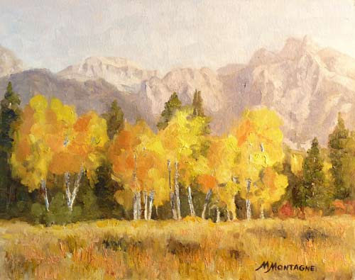"""Golden Glow""     11x14       oil       $650 - Copyright by Matt and Judy Montagne"