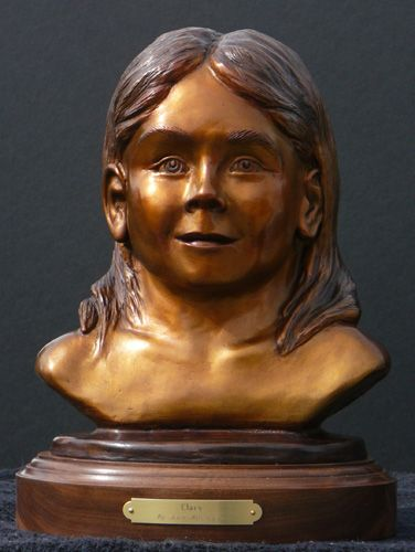 Custom portrait sculpture of your child or grandchild for $3,200 - Copyright by Matt and Judy Montagne