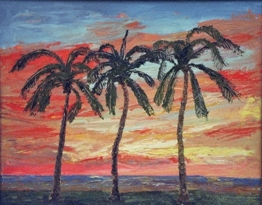 Dancing Palms Sunset 16 x 20       ***SOLD***      - Matt and Judy Montagne