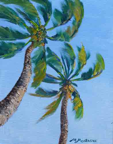 """Frolicking Fronds"" plein air 11x14      $650 - Copyright by Matt and Judy Montagne"