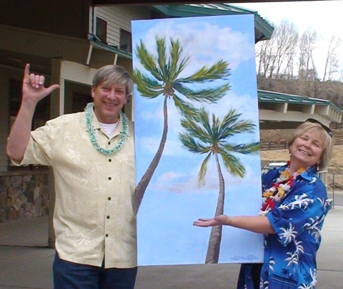 """Towering Palms"" for ""Maui For Money"" - Copyright by Matt and Judy Montagne"