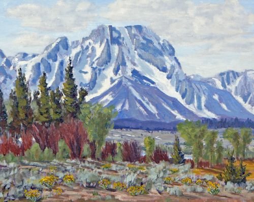 """Colorful Willows & Mt Moran"" 16x20  $850 - Copyright by Matt and Judy Montagne"
