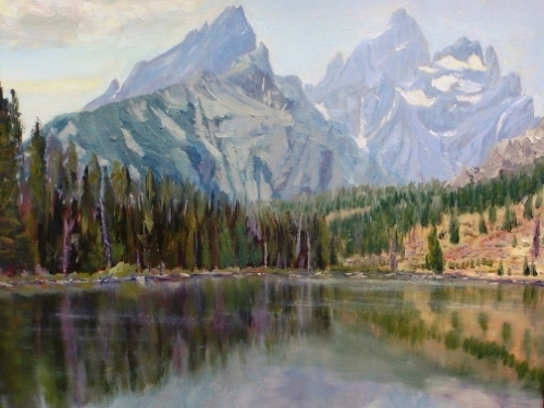 #1 String Lake And The Tetons 9x12...$235   16x20...$375 - Copyright by Matt and Judy Montagne