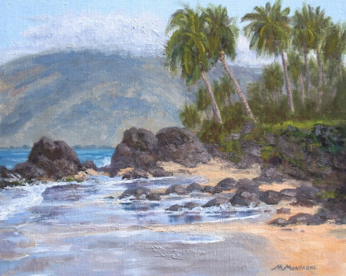 """Charley Young Beach"" 16x20 SOLD - Copyright by Matt and Judy Montagne"