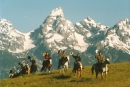 TVRC Riders In Front Of Grand Teton