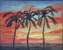 Dancing Palms Sunset 16 x 20       ***SOLD***