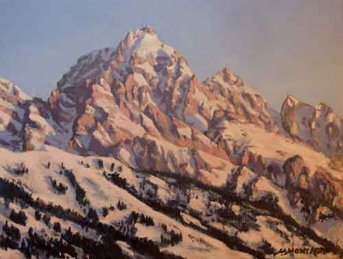 """Grand Winter Sunrise""     11x14      - Copyright by Matt and Judy Montagne"