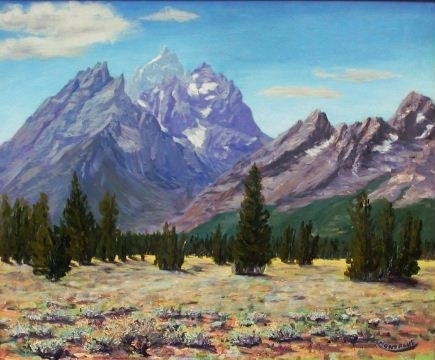 Cathedral View of Tetons From Mountain View Turnout ***SOLD*** - 2003 by Matt and Judy Montagne