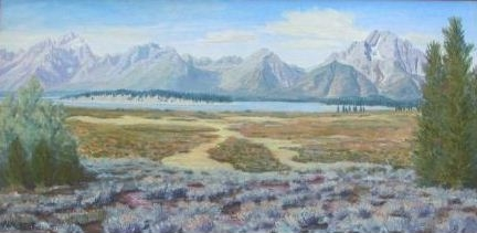 Willow Flats Teton Panorama   ***SOLD*** - 2003 by Matt Montagne