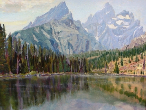 String Lake and Tetons   ***SOLD*** - Copyright by Matt and Judy Montagne