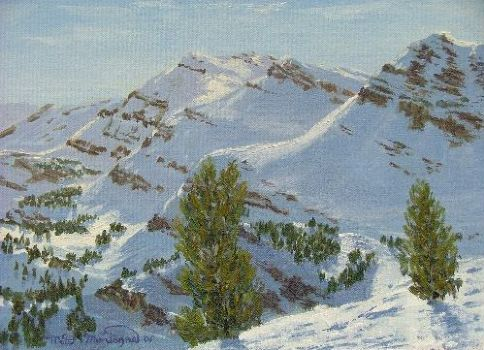 #7 Top Of The Tram Jackson Hole 11x14...$255   16x20...$375 - Copyright by Matt and Judy Montagne