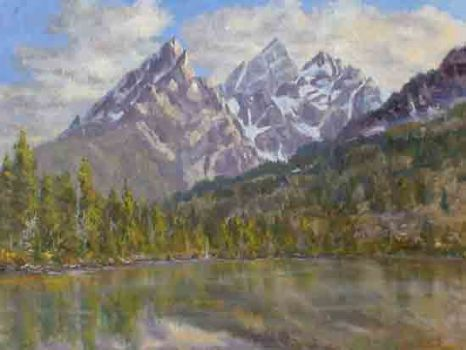 """Evening Glow""  18x24    SOLD - Copyright by Matt and Judy Montagne"