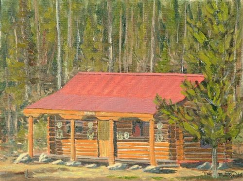 Cabin Middle At New Camp       9x12   ***SOLD*** - Copyright by Matt and Judy Montagne