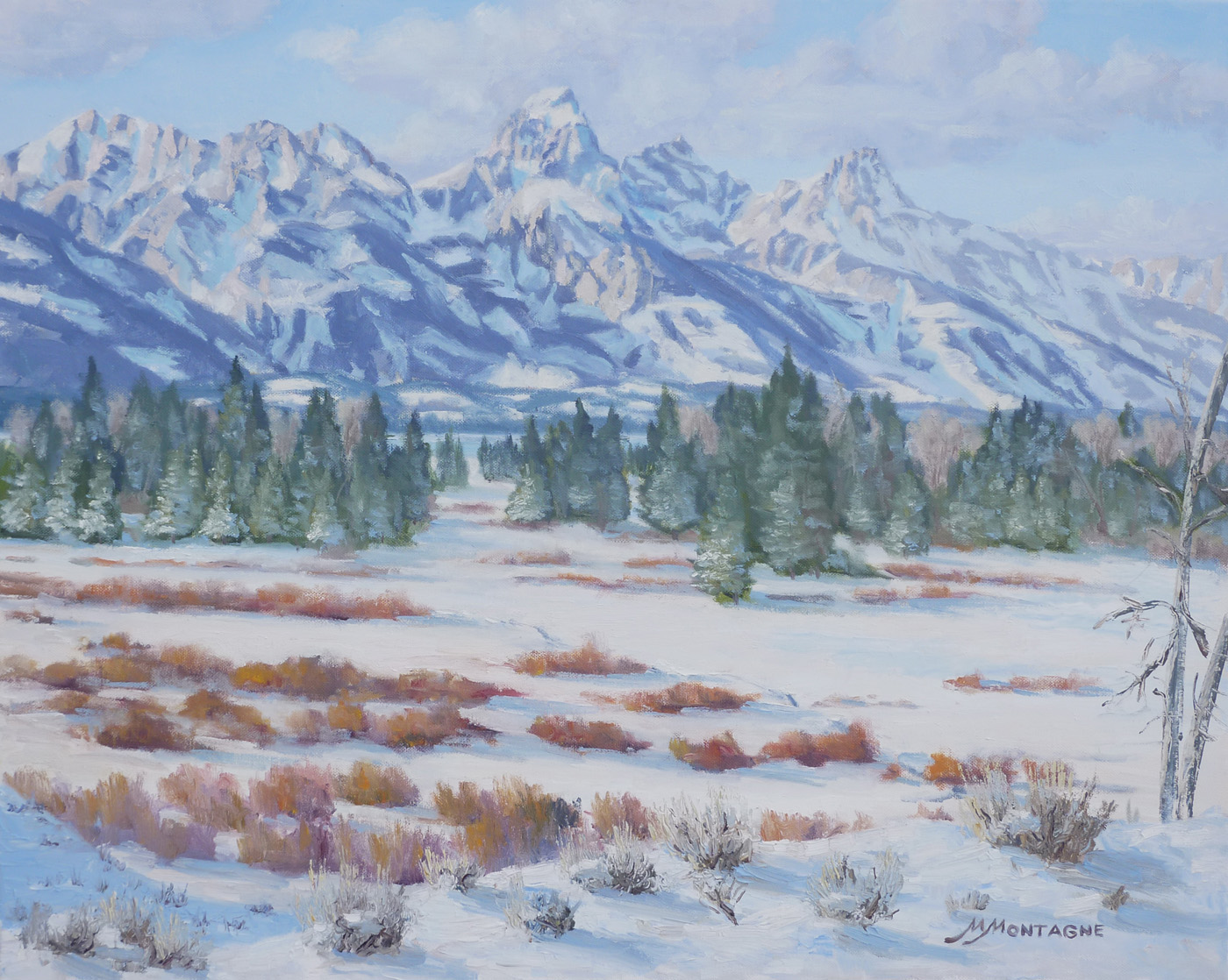 """Winter Delight""         24x30      $3,200 - Copyright by Matt and Judy Montagne"