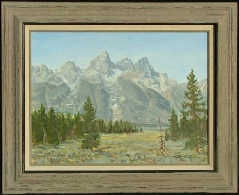 Tetons From Shadow Mountain 18x24   ***SOLD*** - Copyright by Matt and Judy Montagne