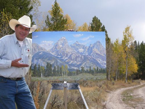 "2006 ""Peoples Choice Award"" Jackson Hole Paintout - Copyright by Matt and Judy Montagne"