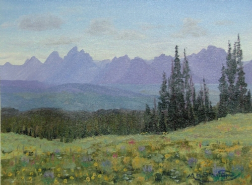 #3 Togwotee Pass Teton Silouette    12x16...$275 - Copyright by Matt and Judy Montagne