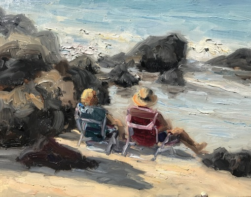"""Makena Lounging"" 8x10 $450 - Copyright by Matt and Judy Montagne"