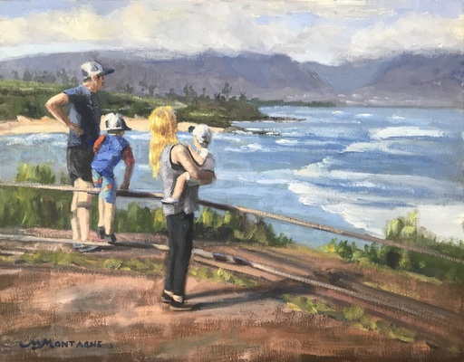 """Catching A View"" 11x14 $650 - Copyright by Matt and Judy Montagne"