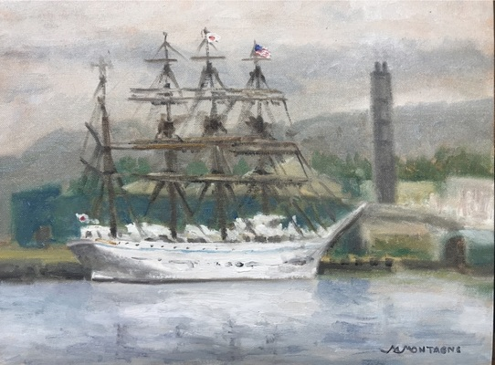"""Kaiwo Maru"" 12x16 $850 - Copyright by Matt and Judy Montagne"