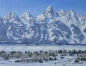 """Teton Winter Day"" 11x14   Week 7"
